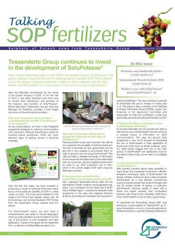 Talking SOP September 2010 [PDF, 787.39 Kb] - Tessenderlo Group