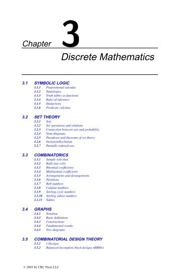 Chapter 3: Discrete Mathematics