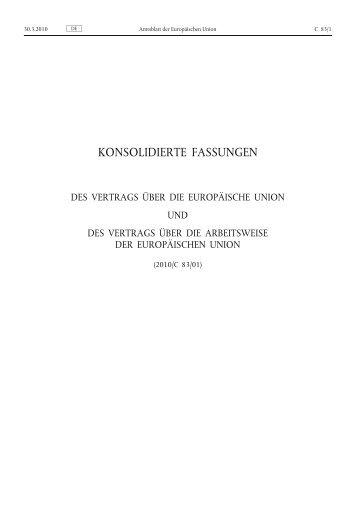 Vertrag über die Europäische Union (EUV)