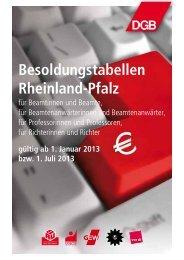 Rheinland-Pfalz ab Januar 2013 bzw. Juli 2013 - Das RentenPlus
