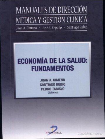 Manuales de dirección médica y gestión clínica ... - FarmacoMedia