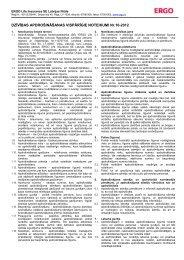 Dzīvības apdrošināšanas vispārīgie noteikumi (Garantētais ... - DNB