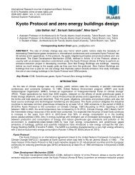 Kyoto Protocol and zero energy buildings design - International ...