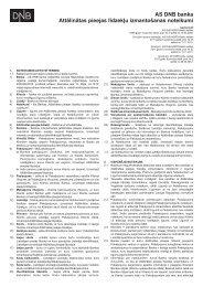 AS DNB banka Attālinātas pieejas līdzekļu izmantošanas noteikumi