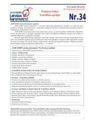 pētījums Nr. 34 (02.03.2011). Veselības aprūpe. - DNB
