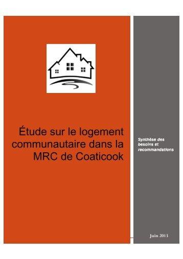 Rapport d'étude sur les besoins en logement communautaire dans ...