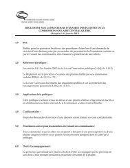 Règlement sur la procédure d'examen des plaintes - Commission ...