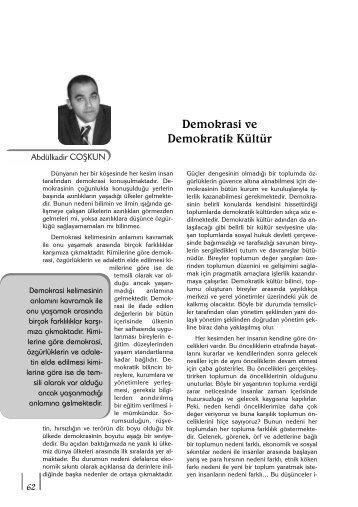 Demokrasi ve Demokratik Kültür - Yerel Siyaset