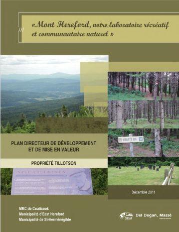 Plan directeur - rapport final - MRC de Coaticook