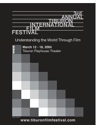 2004 Program - Tiburon International Film Festival