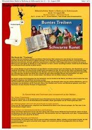 Side 1 af 3 Mittelalterlicher Markt in Marburg im Schlosspark Am 22 ...