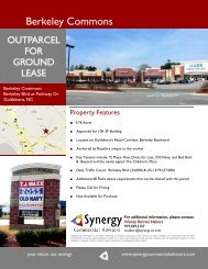 Berkeley Commons Flyer_Out Parcel.pub - Synergy Commercial ...