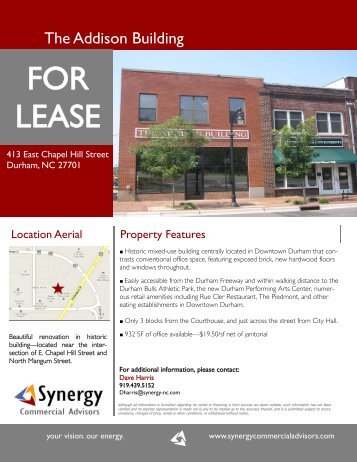 413 Chapel Hill St Flyer-932sf.pub - Synergy Commercial Advisors