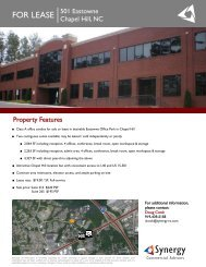 501 Eastowne_Flyer.pub - Synergy Commercial Advisors
