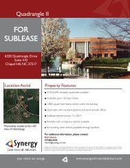 FOR SUBLEASE - Synergy Commercial Advisors