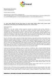 Výzva ke zrušení veřejné zakázky malého rozsahu - Bezkorupce