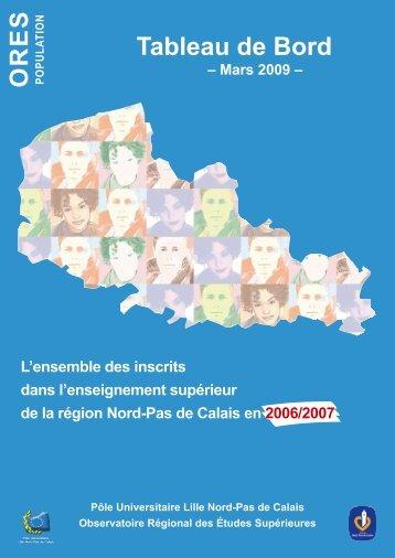 Tableau de bord 2006/2007 - Université Lille Nord de France