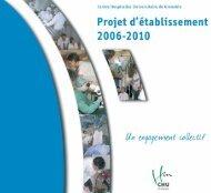Projet d'établissement 2006-2010 - CHU Grenoble