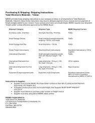 Purchasing & Shipping: Shipping Instructions - MEMC Electronic ...