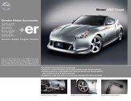 Nissan 370Z Coupe | Accessories Brochure