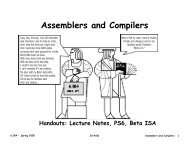 Assemblers and Compilers - 6.004