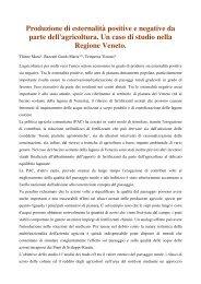 Produzione di esternalità positive e negative da parte dell ...