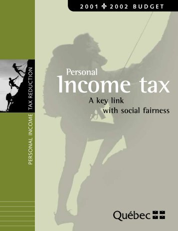Personal income tax reduction - Budget