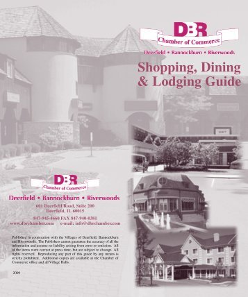 DBR shop and dine guide - DBR Chamber of Commerce