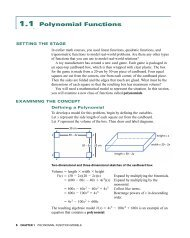 1.1 Polynomial Functions