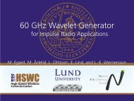 60 GHz Wavelet Generator