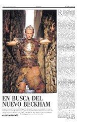 EN BUSCA DEL NUEVO BECKHAM - El País