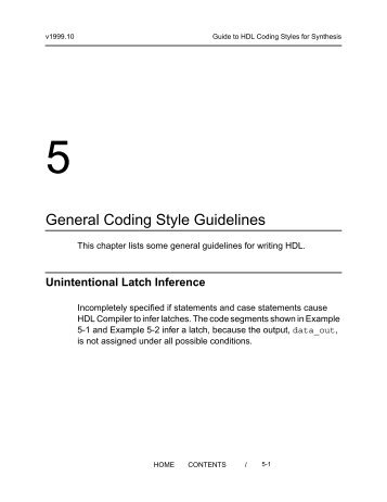 """5. General Coding Style Guidelines - """"PLDWorld.com""""..."""