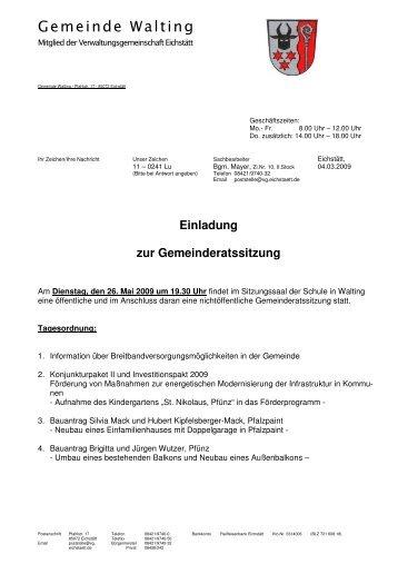 Ergebnisse - Archiv - Walting