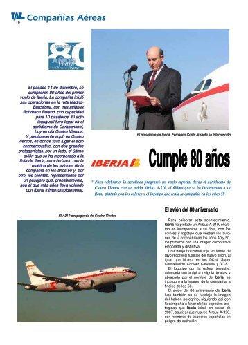 IBERIA: Cumple 80 años - TAT Revista
