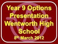 Yr 9 Options Baccalaureate Presentation - Wentworth High School