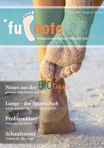 Fußnote 1/2012 - Berndorfer Fussklinik