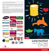 sonnabend, 26. august - Laternenfest in Halle