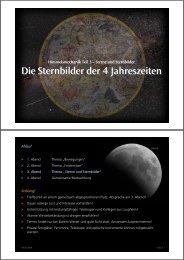 Die Sternbilder der 4 Jahreszeiten - Kleinmaeusiges.de