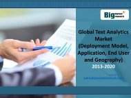 Global Text Analytics Market (Deployment Model, Application, End User and Geography) 2013-2020