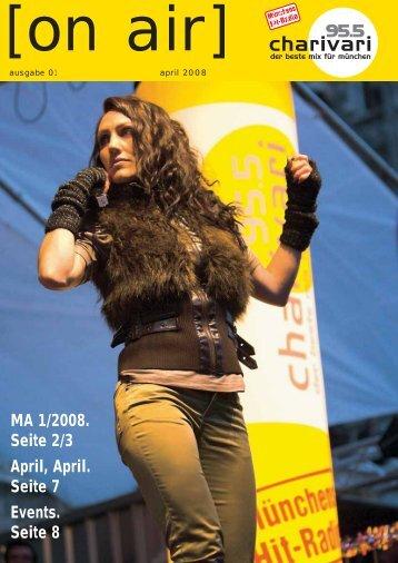 MA 1/2008. Seite 2/3 April, April. Seite 7 Events. Seite 8