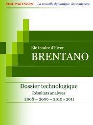 Blé tendre d'hiver BRENTANO - Sem-Partners