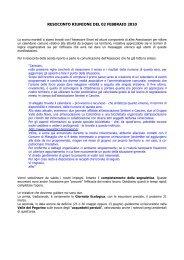 resoconto riunione del 01 febbraio 2010-02-06 - Sentieri e Cascine