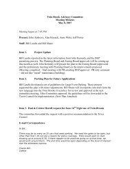 Twin Brook Advisory Committee - Town of Cumberland