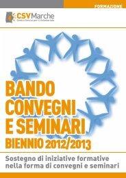 Bando Convegni e Seminari - CSV Marche