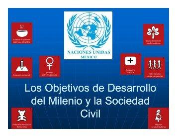 Los Objetivos de Desarrollo del Milenio y la Sociedad Ci ilv - CINU