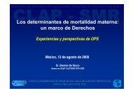 Los determinantes de mortalidad materna: un marco de ... - CINU