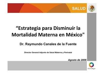Estrategia para disminuir la mortalidad materna en México - CINU