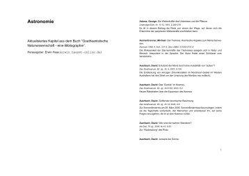 Astronomie - Goetheanum