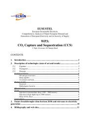 WP3: CO2 Capture and Sequestration (CCS) - Eusustel.be