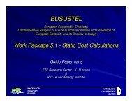 WP5.1 progress of work - Eusustel.be
